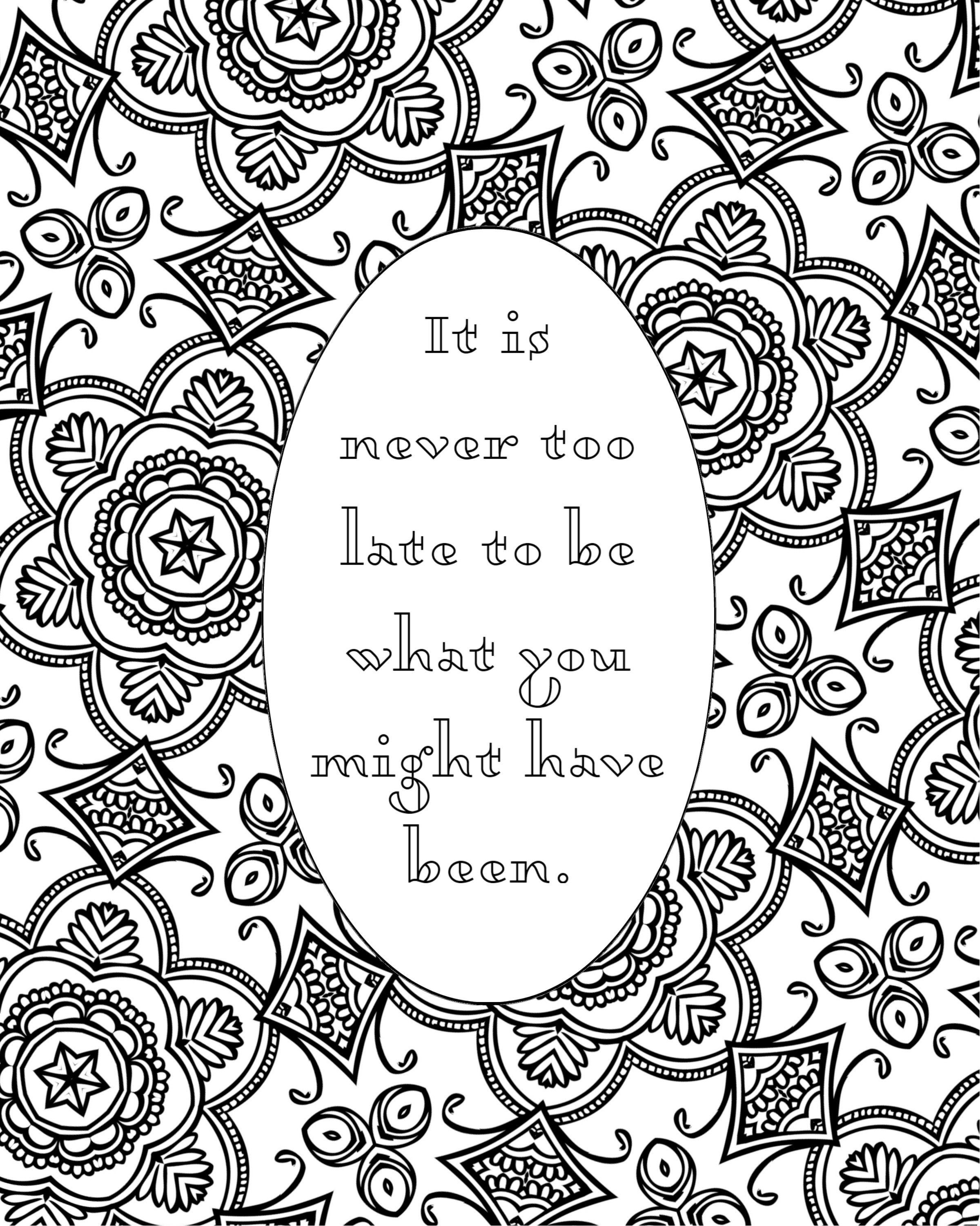 5 Self Love Printable Coloring Quotes Instant