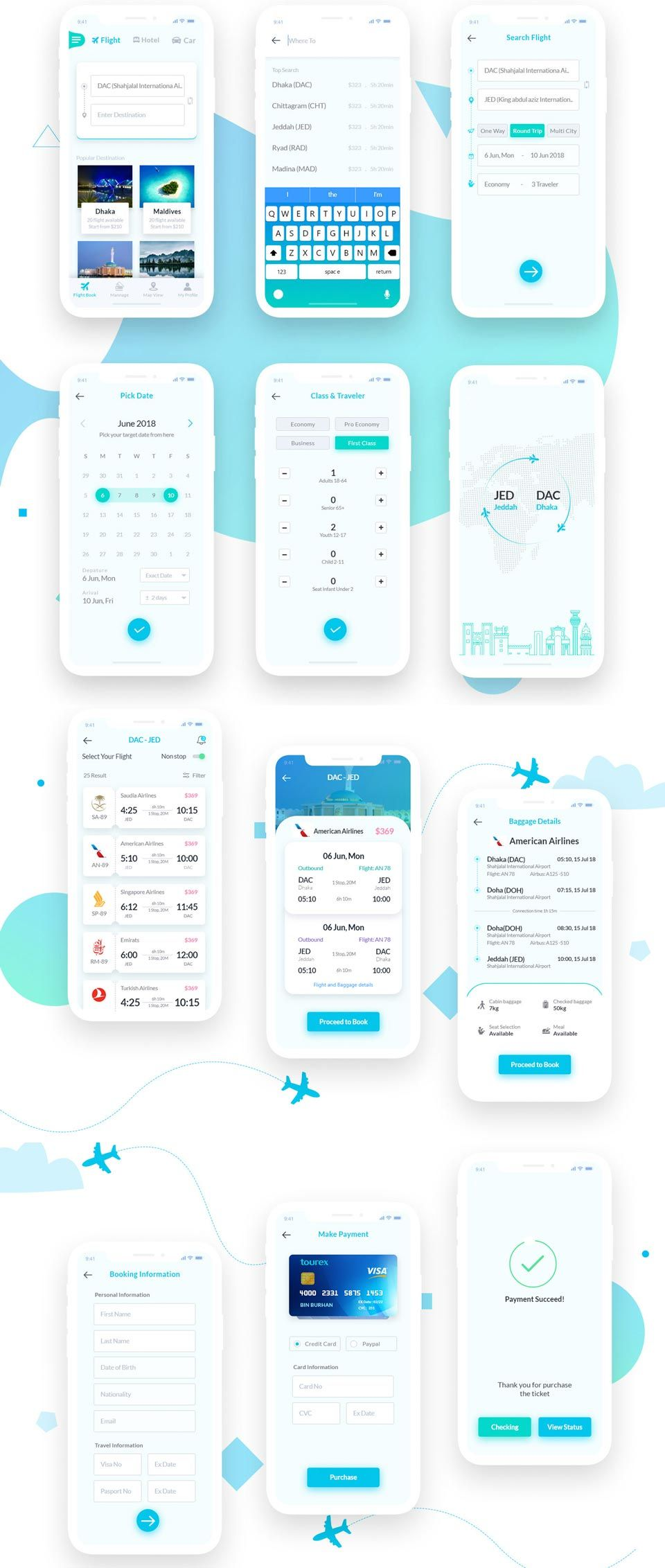 Flight Booking Free UI Kit | UI Kits, Web & App Templates