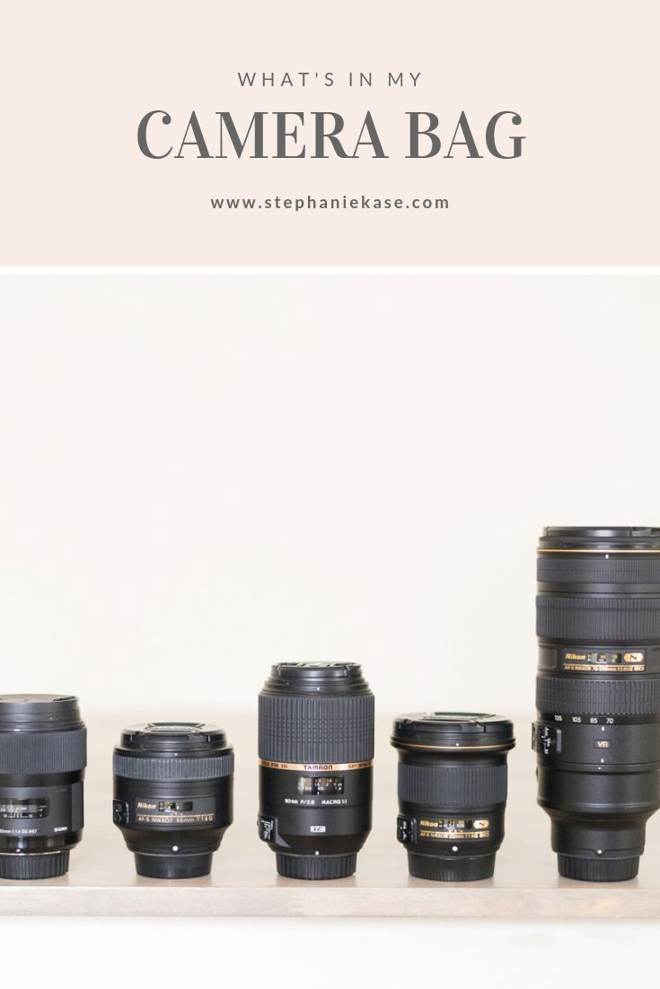 For Photographers: What's In My Camera Bag (my photography gear & when I use it) - Stephanie Kase Photography