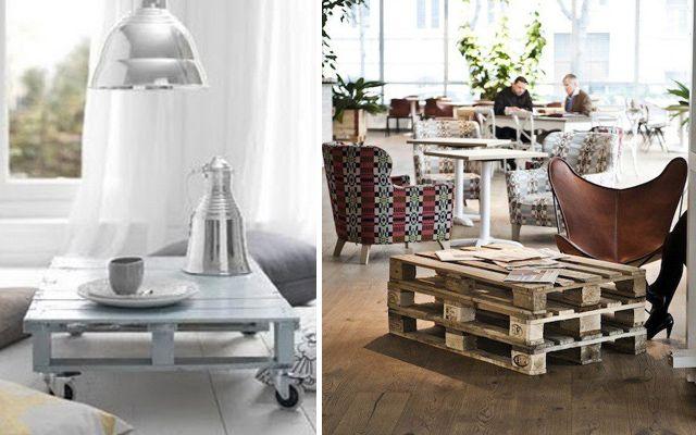 Diy ideas para decorar con pallets c mo hacer mesas - Como decorar con palets ...