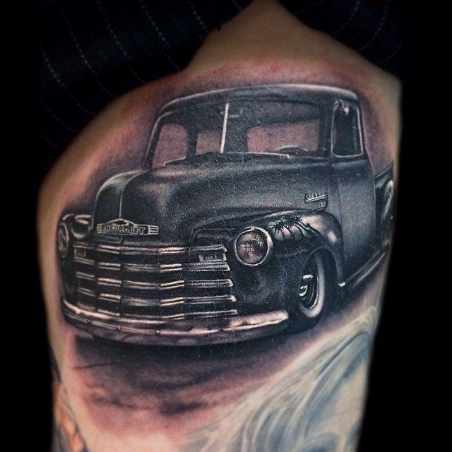 Classic Car Tattoo By Kegan Hawkins Tattoo Artists Classic Car