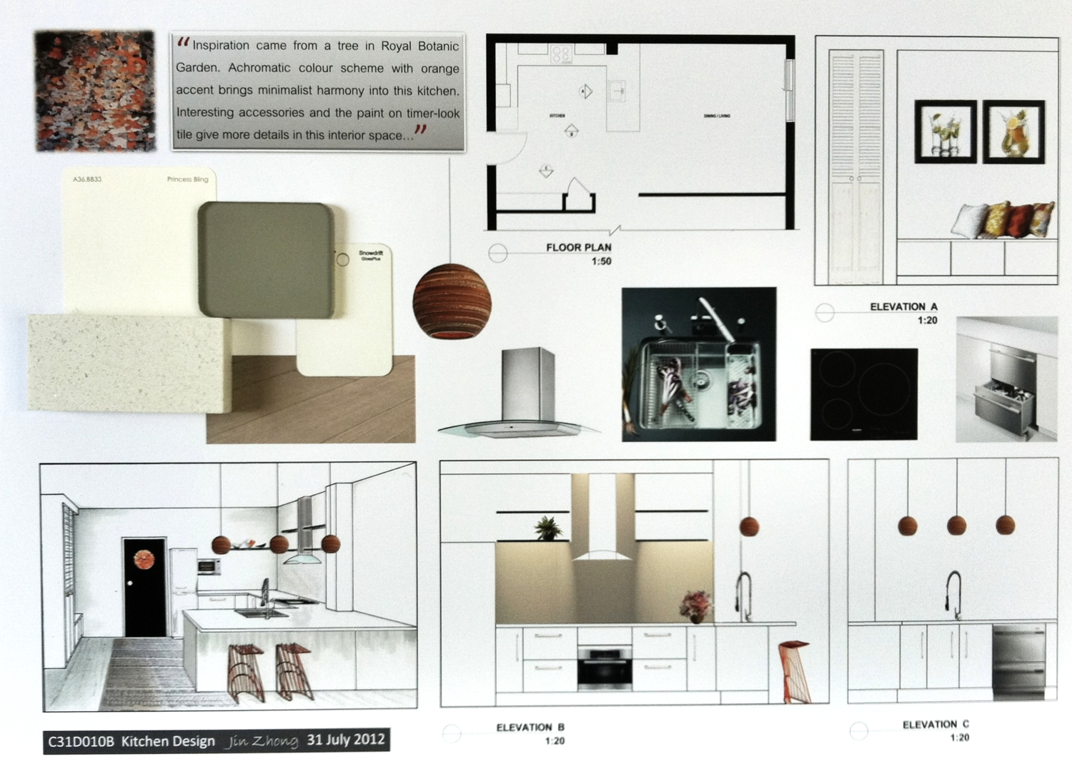 Presentation Board - Kitchen Design | sketch & project | Interior ...
