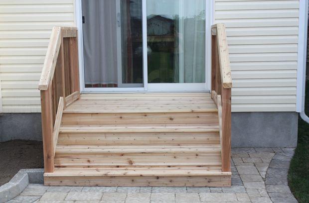how to build a short back door deck