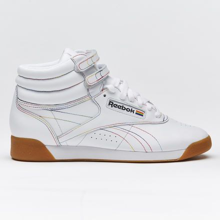 Freestyle Hi Pride Women's Shoes | Pride shoes, White reebok