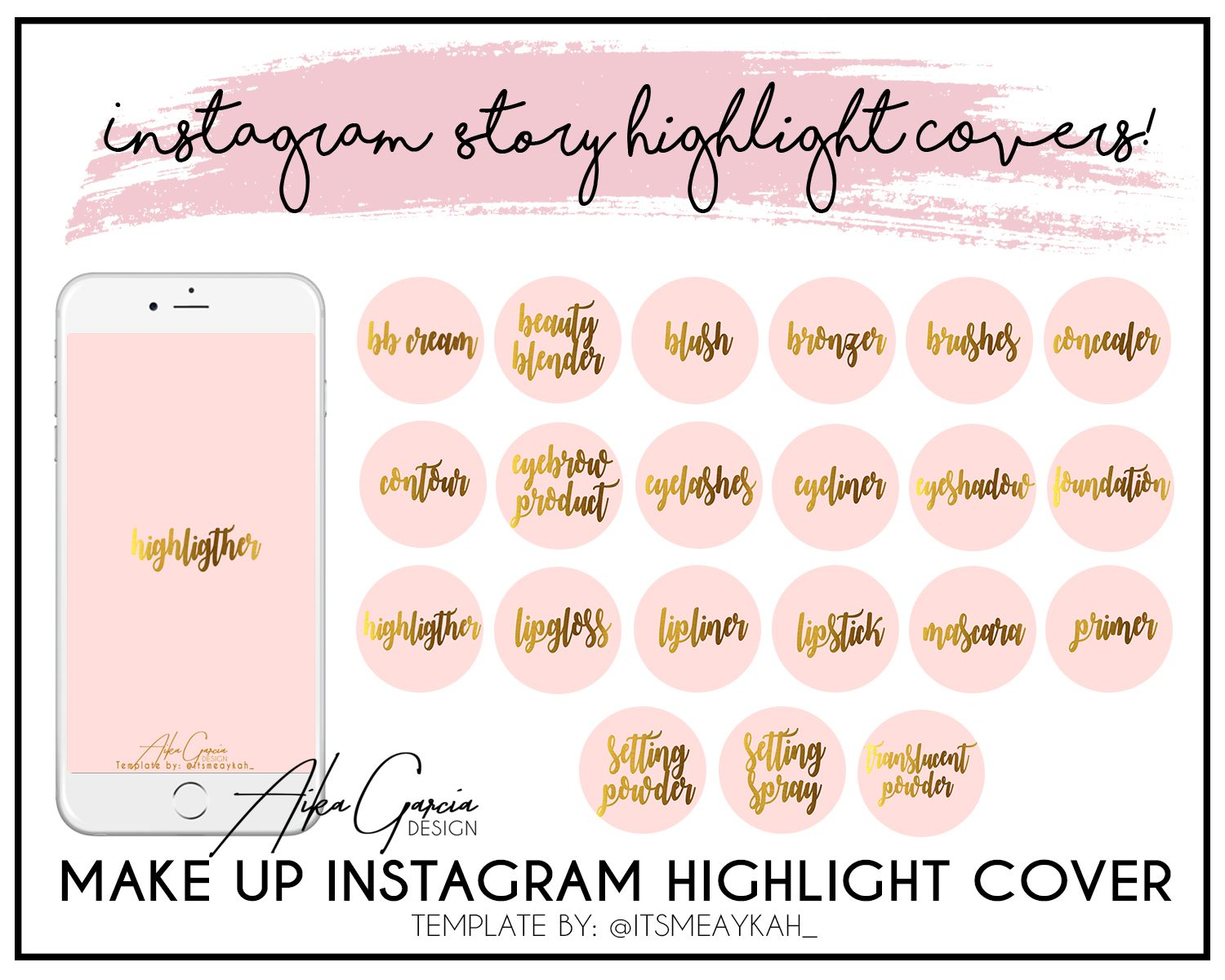 21 Make up icon instagram highlights cover Price 10 If