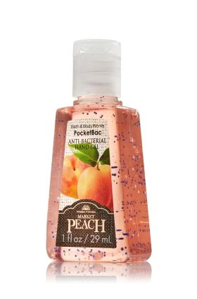 Market Peach Pocketbac Sanitizing Hand Gel Anti Bacterial Bath