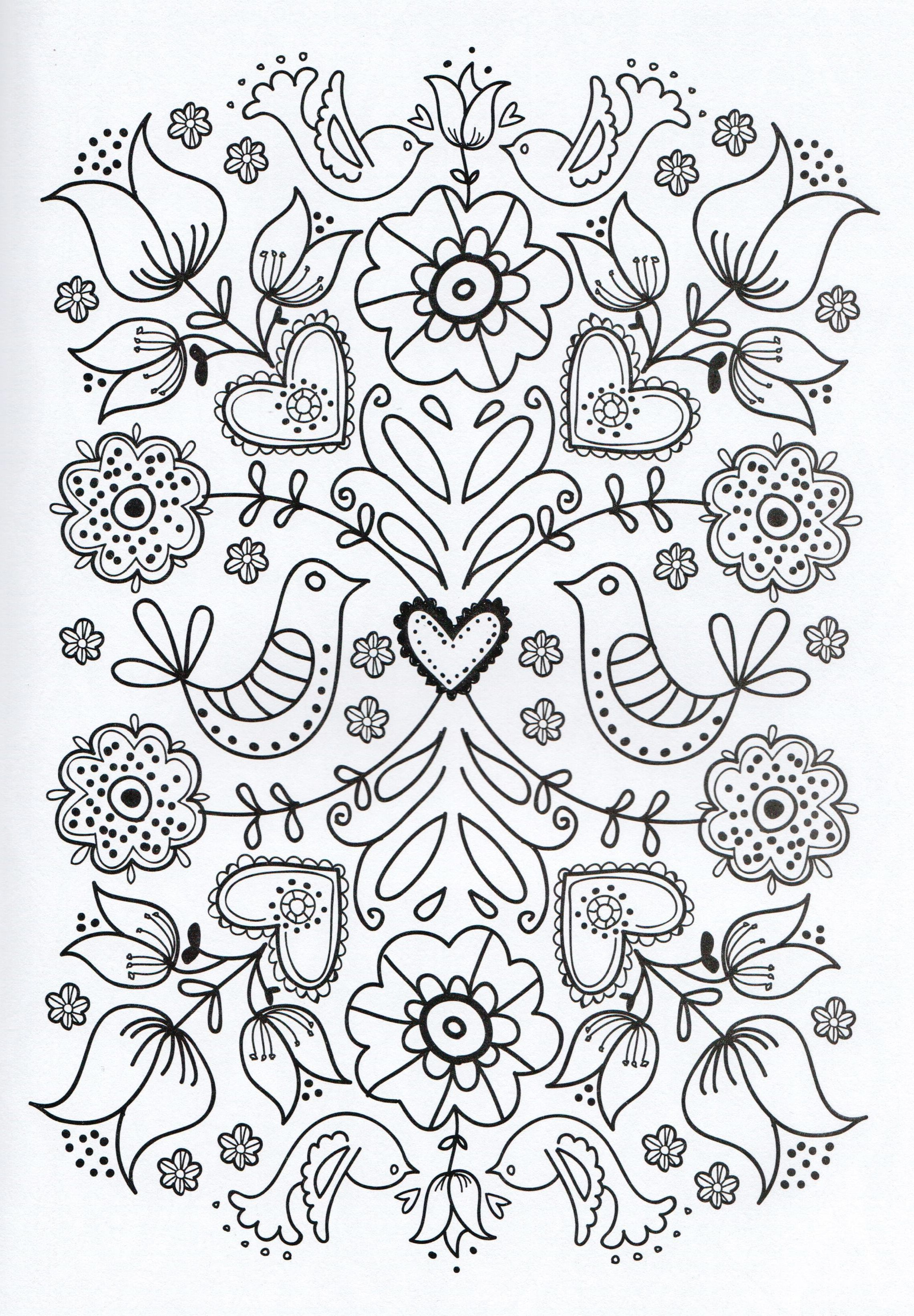 Adult Coloring Page Lilies Of The Field Birds Of The Air