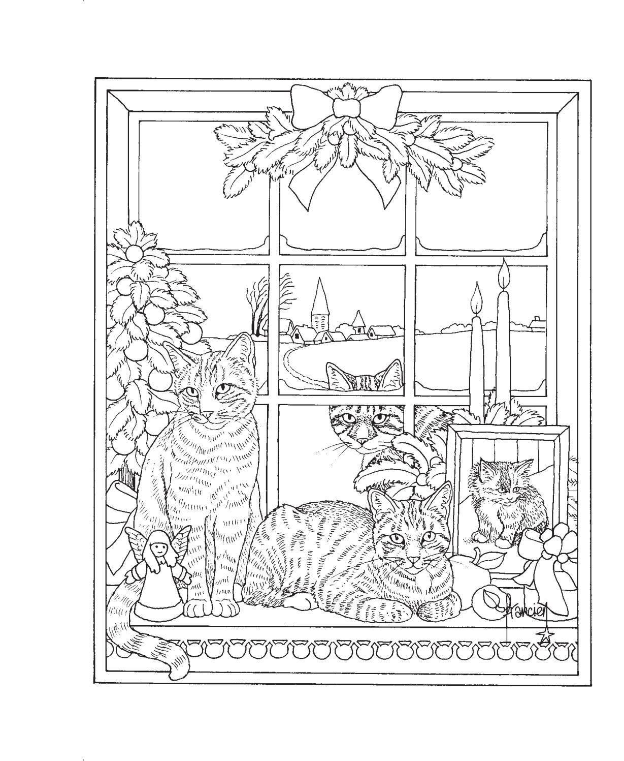Franciens Katten Kerstkleurboek Om Te Versturen Francien Van Westering Dieren Kleurplaten Boek Bladzijden Kleuren Kleurplaten