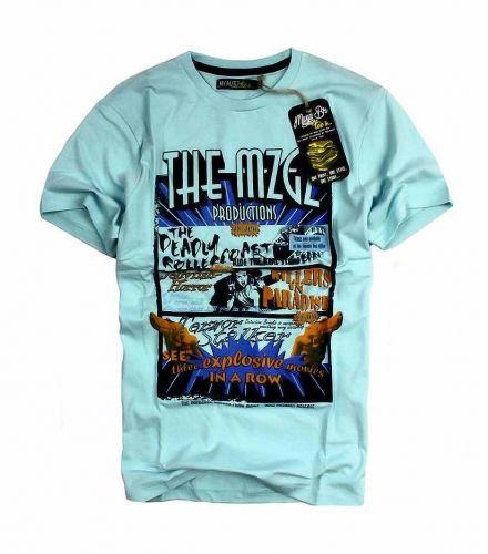 T-Shirt męski MZGZ cyjan