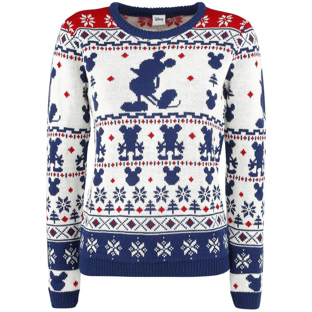Disney Kersttrui.Christmas Sweater Knit Jumper By Mickey Christmas Pinterest