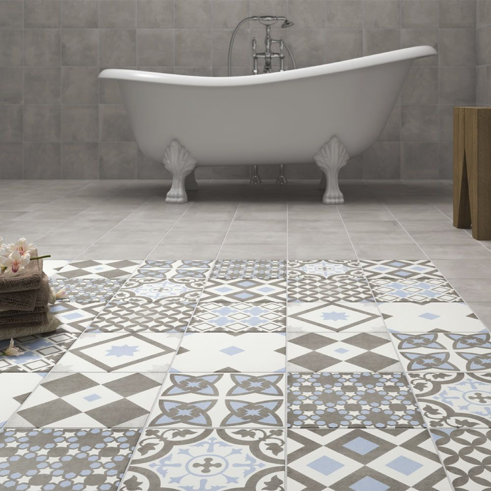 Vibe Patterned Wall And Floor Tiles   223 X 223mm Standard Large Image