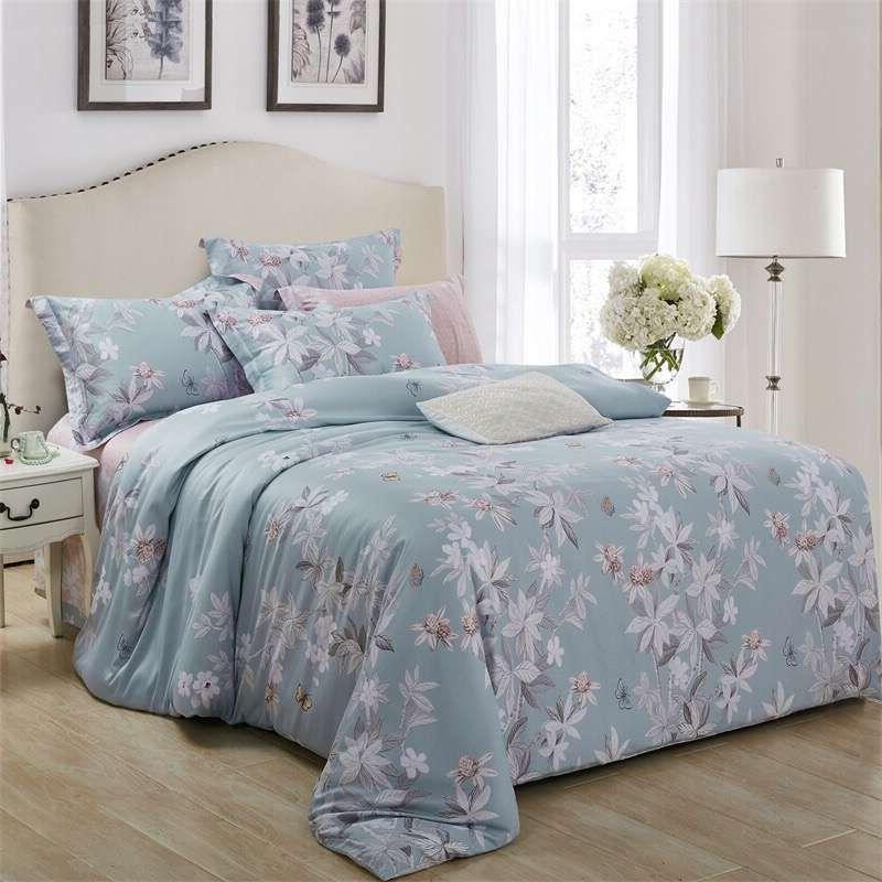Beiyayan Modern Home Textile Bedding Set 4pcs Duvet Cover Sets Bedsheet Pillow Case Jacquard Bedlinens Country