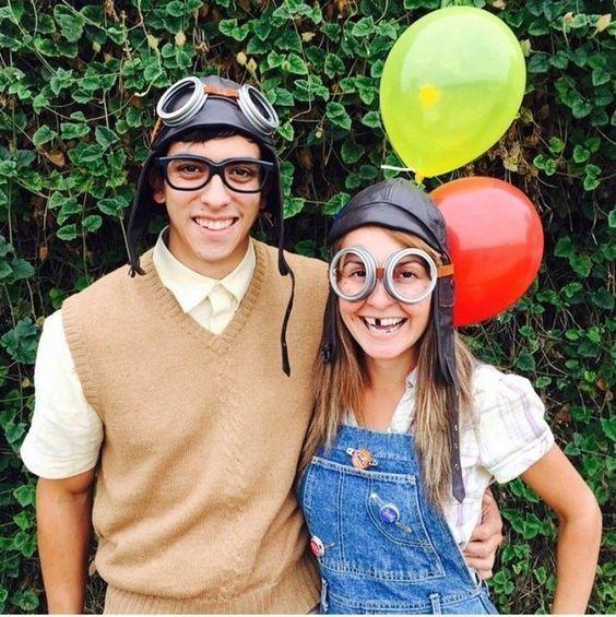 Carl and Ellie Costume.  sc 1 st  Pinterest & Carl and Ellie Costume. | Halloween | Pinterest | Costumes ...