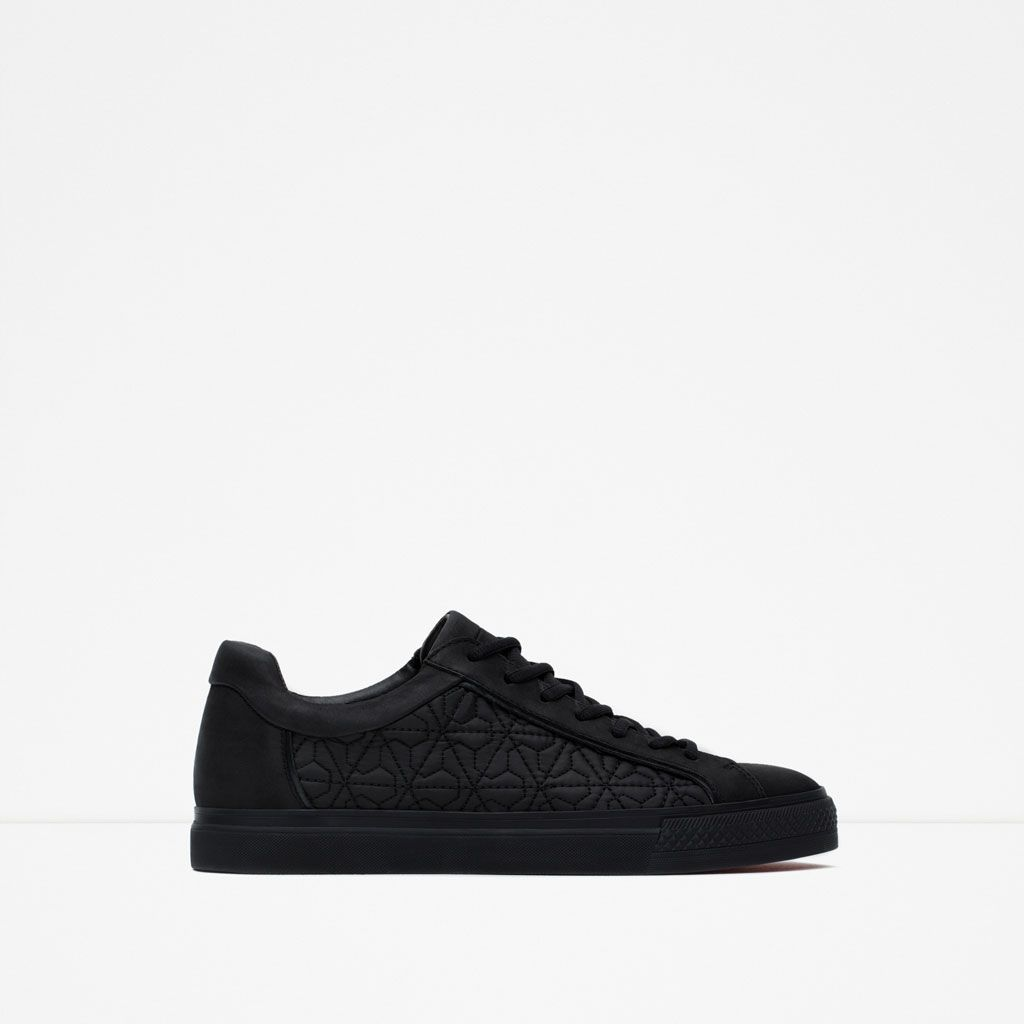 ZARA - MAN - SNEAKERS WITH QUILTED DETAIL