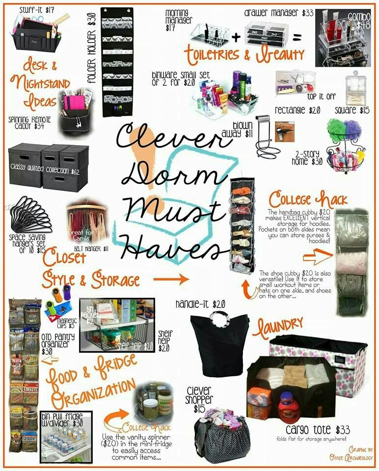 Organize Your Dorm Room Or College Apartment With These Clever Container  Products! Www.mycleverbiz Part 74