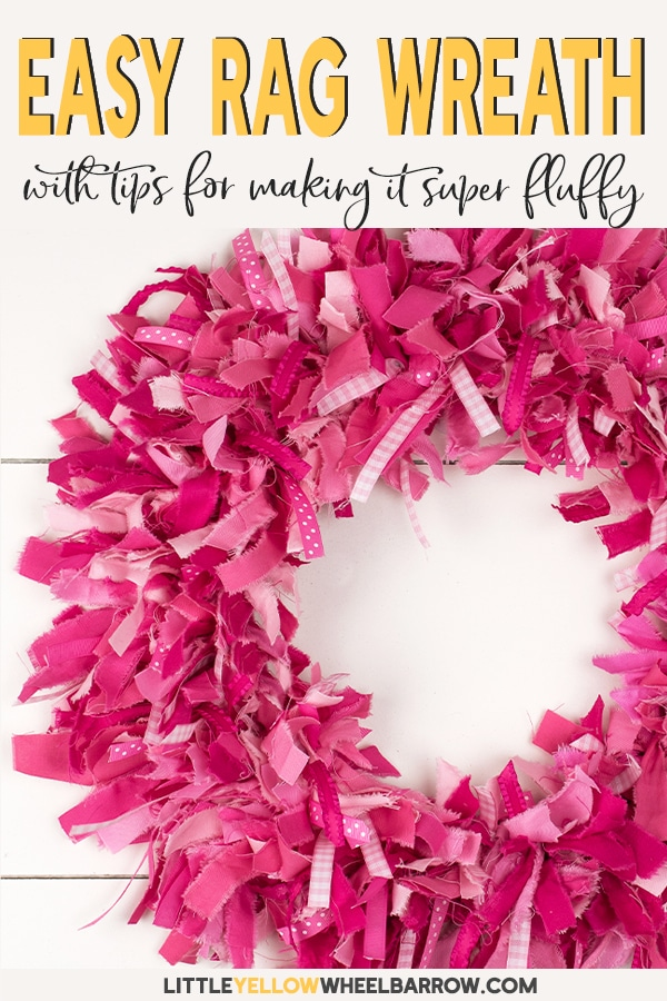 Photo of How to Make a Rag Wreath – Super Fluffy!