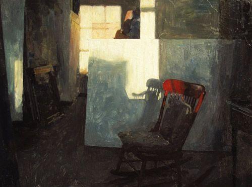"""Hollis Dunlap: """"Empty Chair,"""" 2013, oil / Fine Art Connoisseur."""