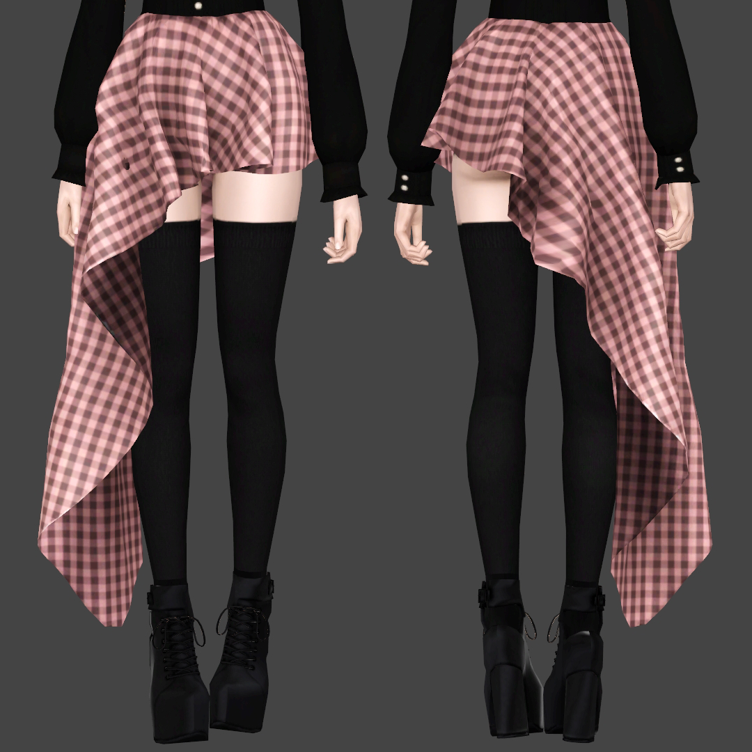 My Sims 3 Blog: Nightfall Skirt by Bring Me Victory