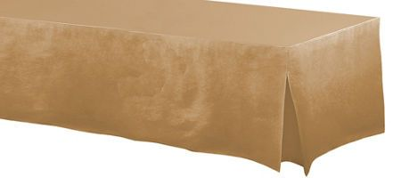 Gold Plastic Table Cover 54in X 108in Party City Csv 51 In 2019