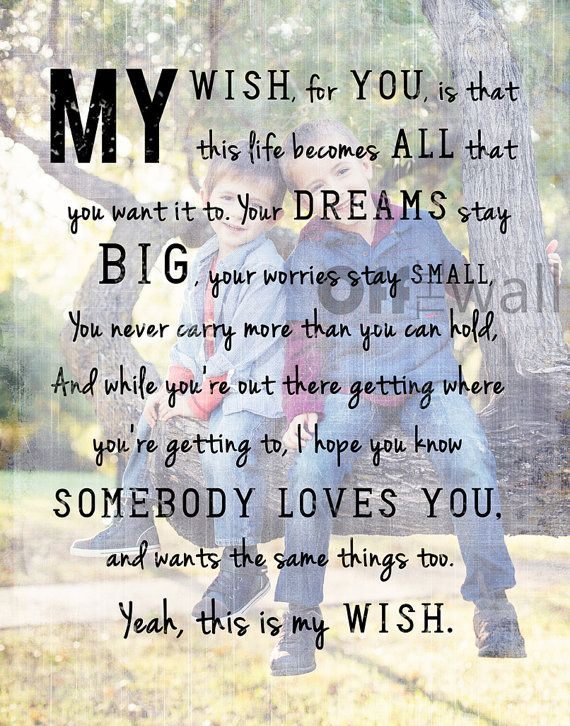 My Wish Lyrics By Rascal Flatts 16x20 Image By Offthewallbyleah 110 00 Country Song Lyrics Country Music Lyrics Music Quotes