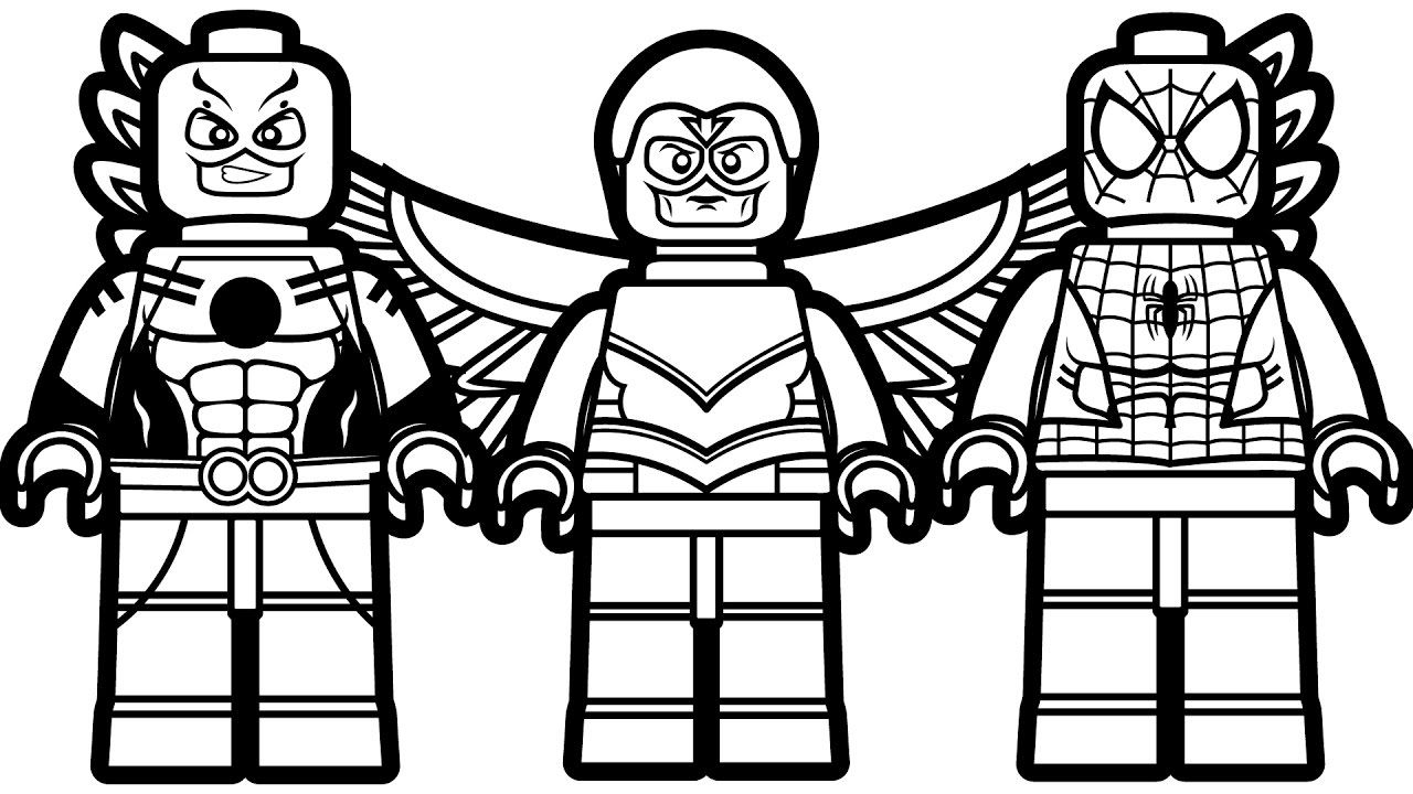 Lego Marvel Coloring Pages With Wallpaper Picture ...
