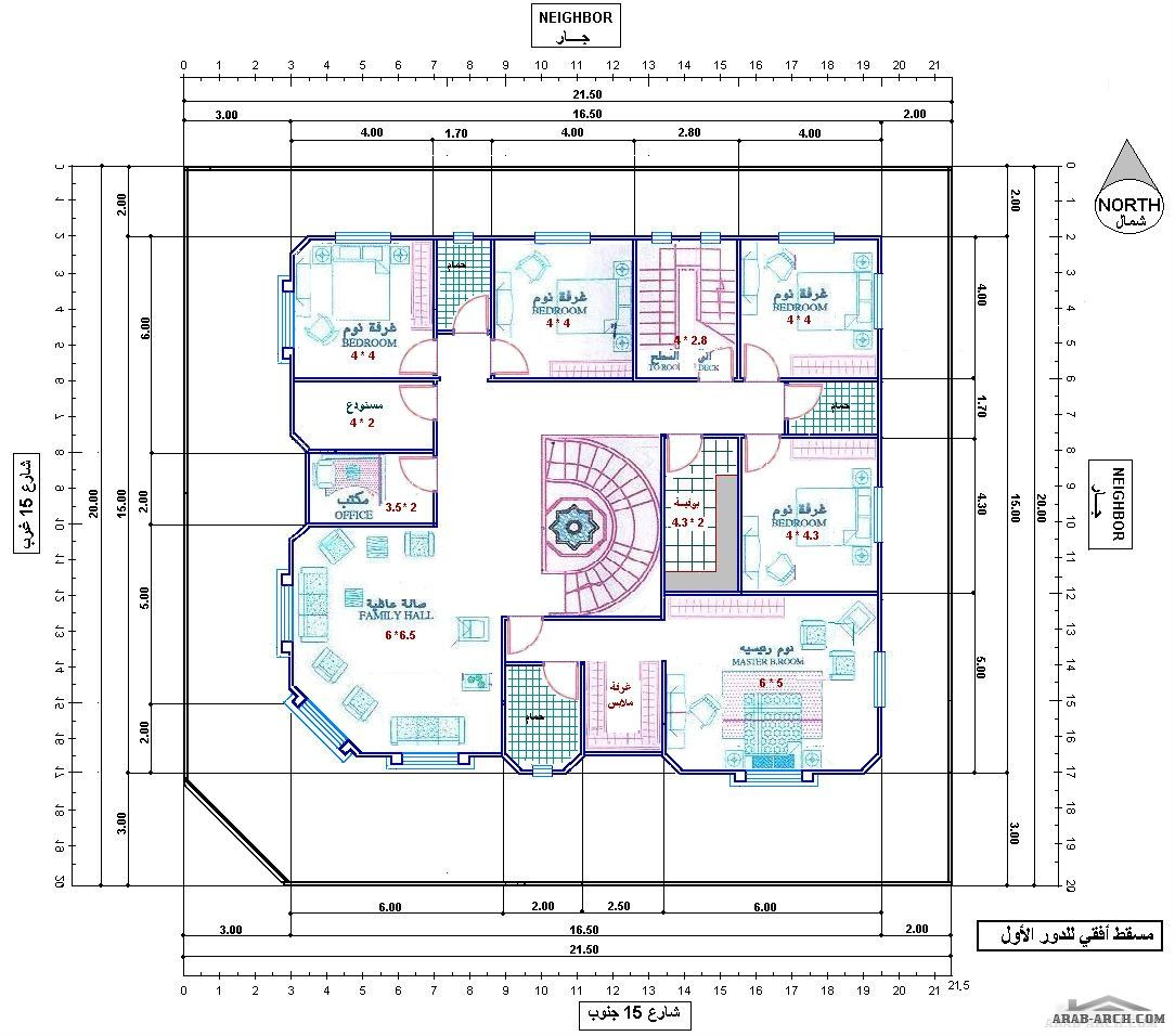 تصميم فيلا رائعه جدا ابعاد الارض 20 21 5 متر Basement House Plans Classic House Design Architectural Design House Plans