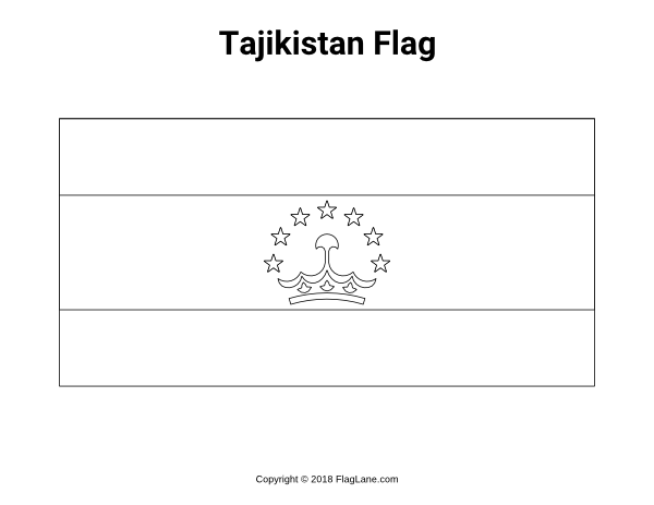 Free Printable Tajikistan Flag Coloring Page Download It At Https Flaglane Com Coloring Page Tajikistani Flag Coloring Pages Coloring Pages Tajikistan Flag