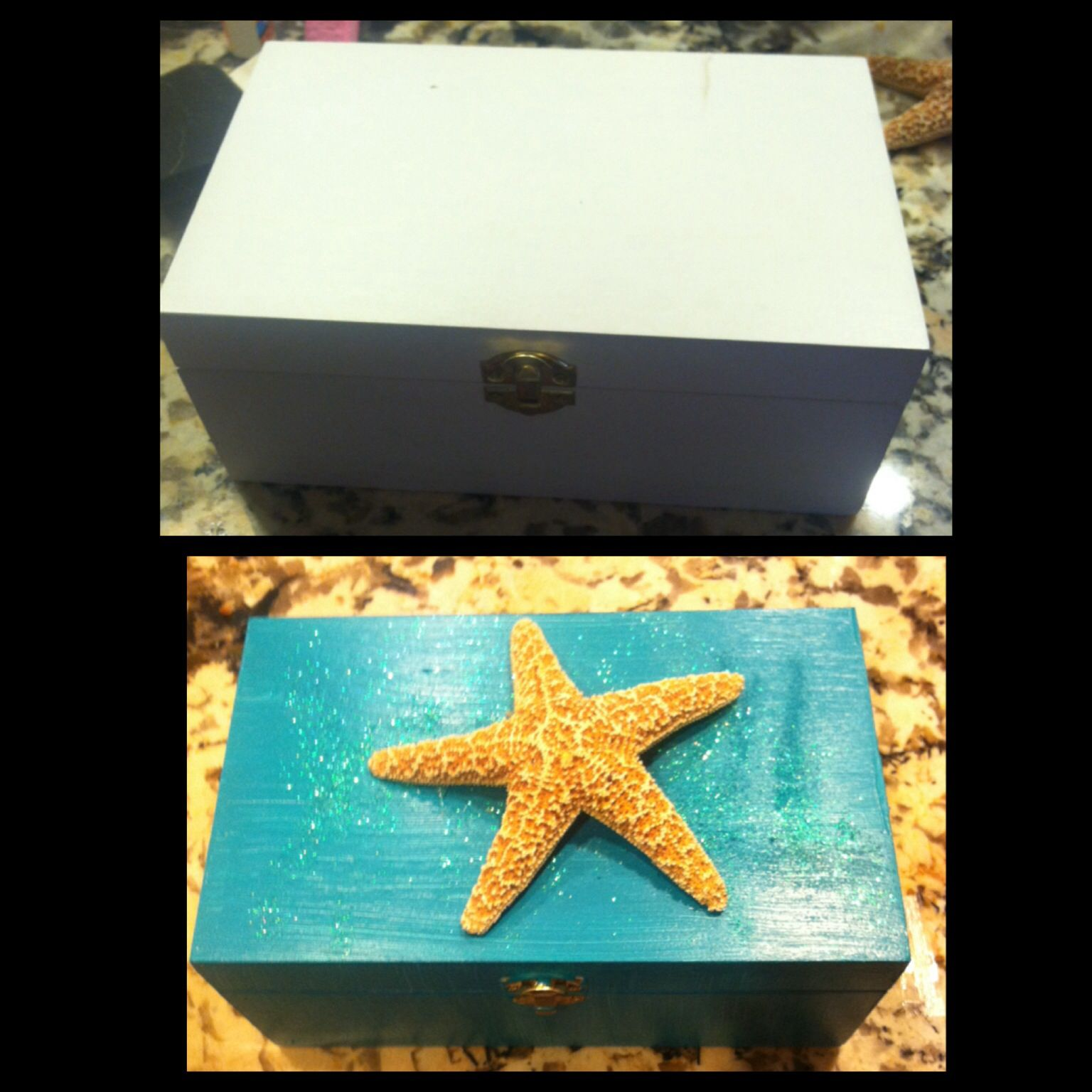 A jewelry box I painted for a friend who likes anything to do with the ocean