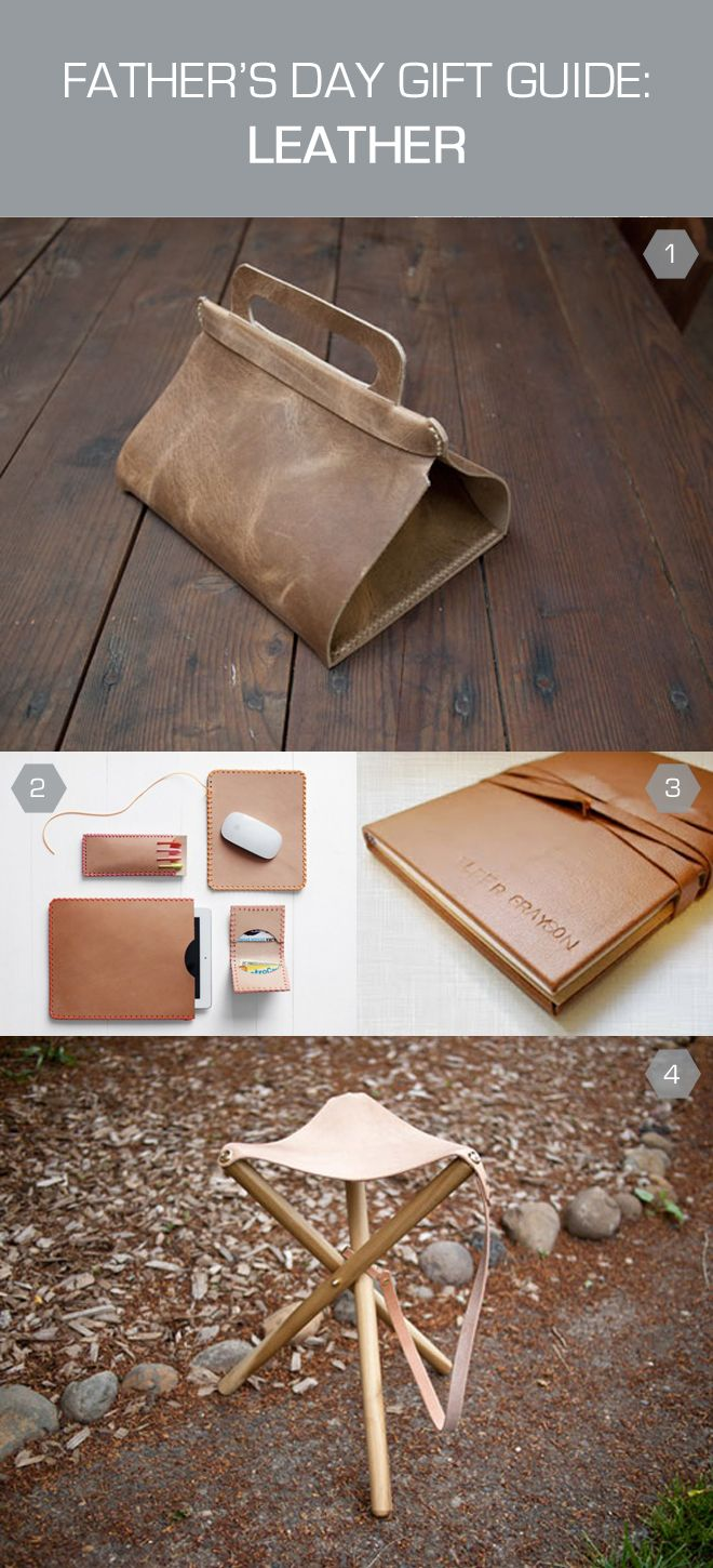 FATHER'S DAY DIY GIFT ROUNDUP: featuring projects made from leather, via thefeltedfox.blogspot.com