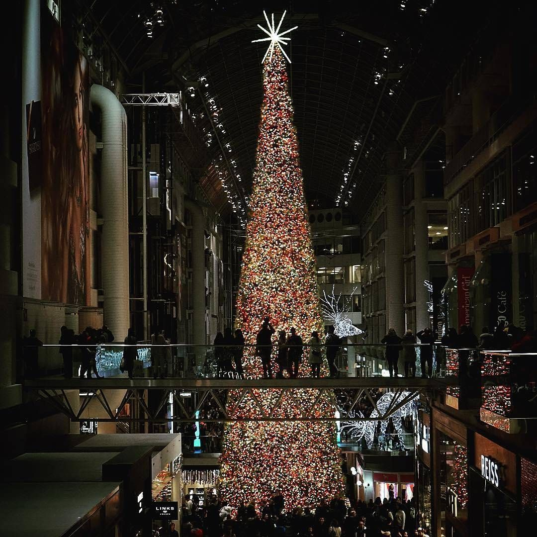 See The Tallest Christmas Tree In Canada At The CF Toronto