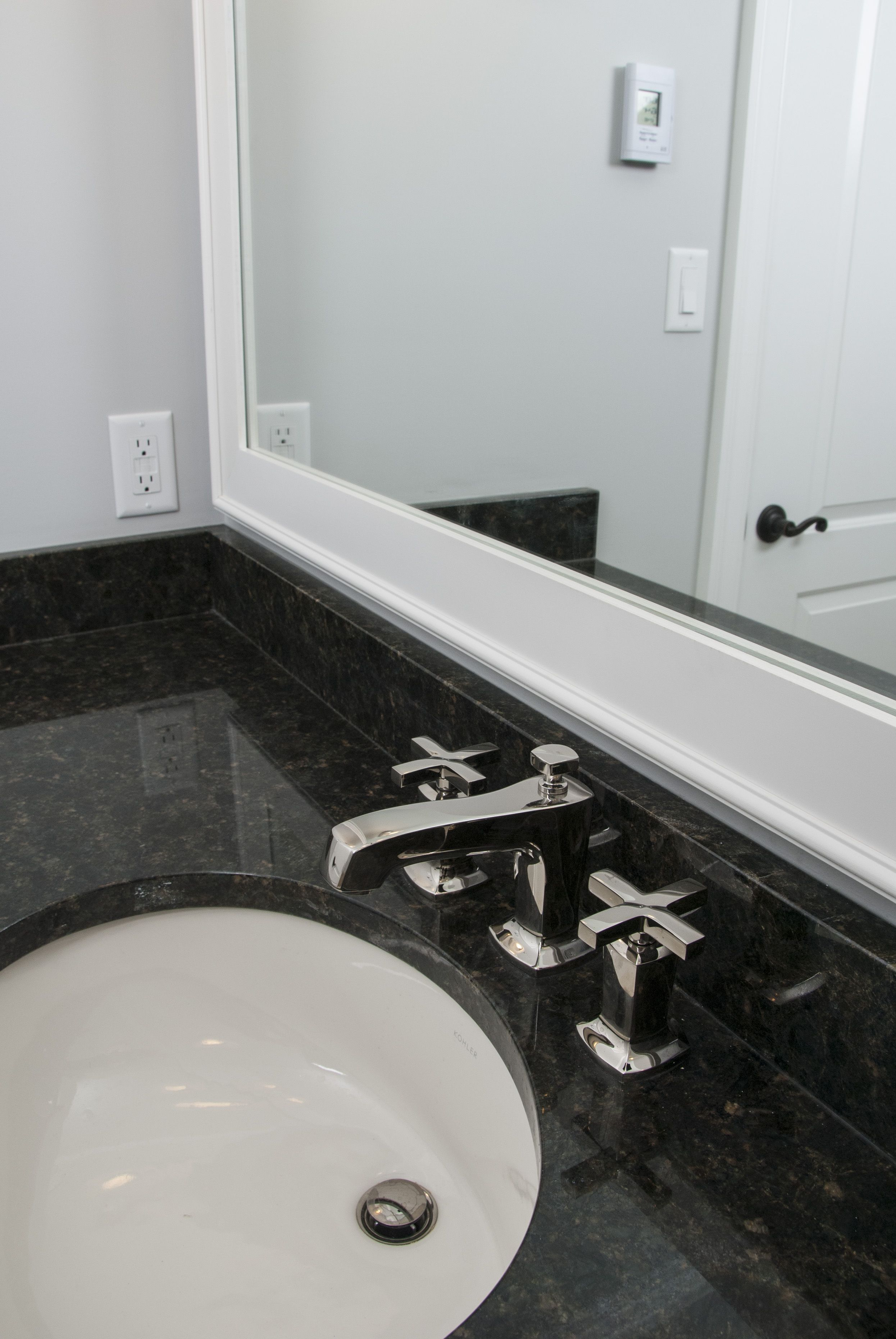 White Vanity Kohler Faucets Purist Faucets Brushed Nickel