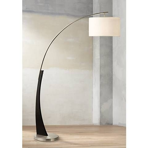 Nova Portman Brushed Nickel Arc Floor Lamp 3k744 Lamps Plus Curved Floor Lamp Arc Floor Lamps Floor Lamp