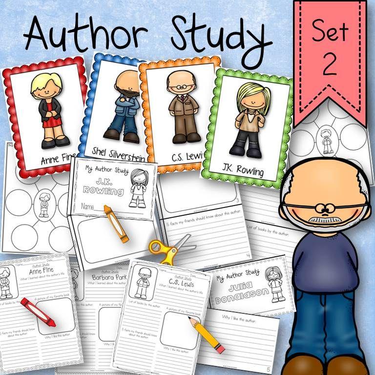 Author Research Study Activity Set 2   TpT Language Arts