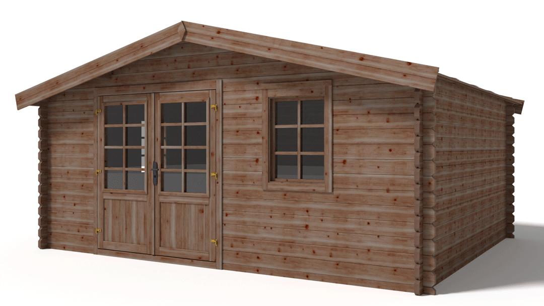 Chalet de jardin 21.6 m² bois traité autoclave marron ...