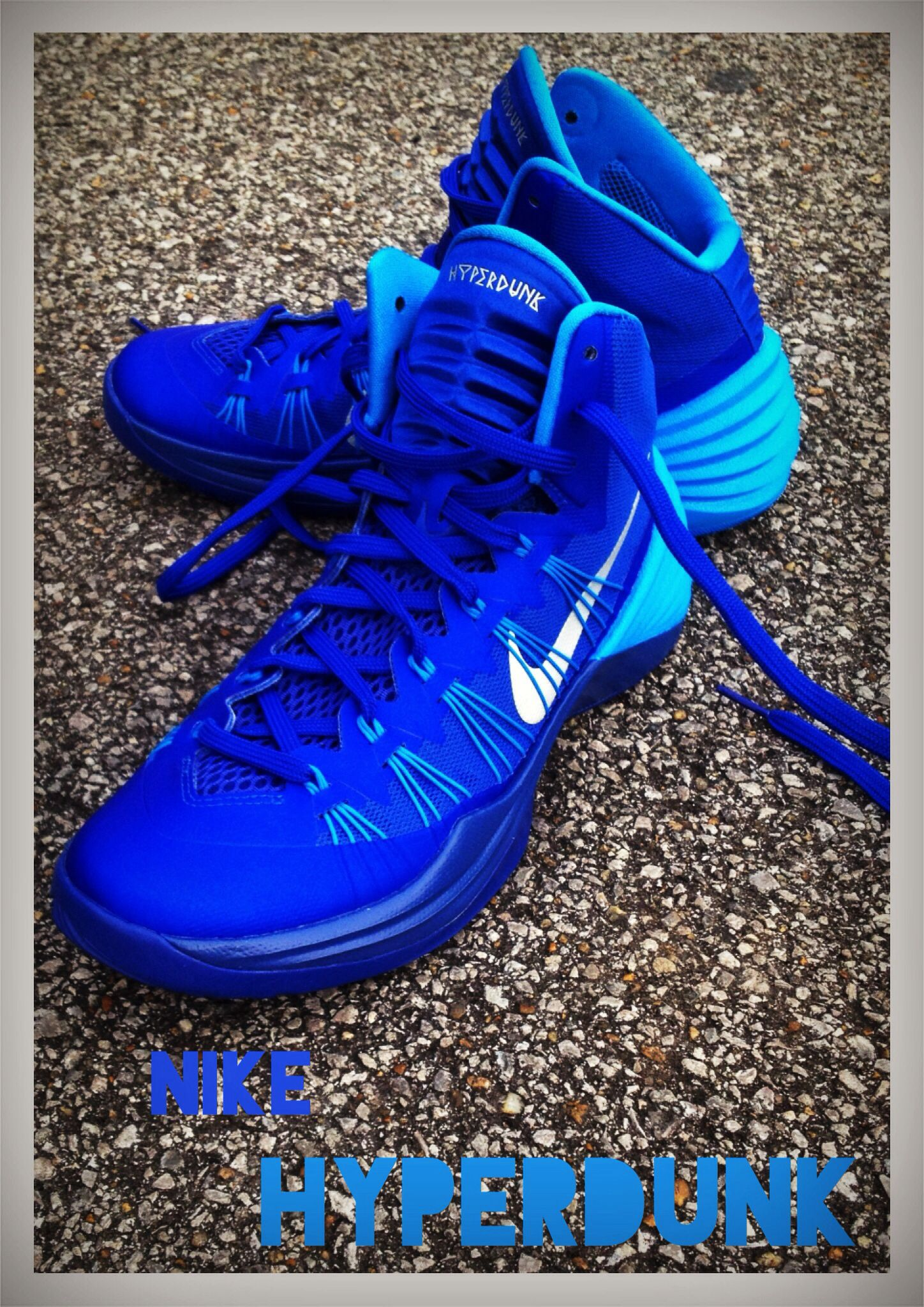 foam nike sneakers nike hyperdunk black and blue