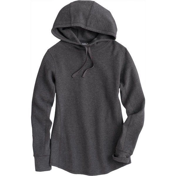 Women's Longtail T Waffle Hoodie ($40) ❤ liked on Polyvore featuring tops, hoodies, hooded sweatshirt, sweatshirt hoodies, waffle hoodie, waffle knit hoodie and waffle knit top