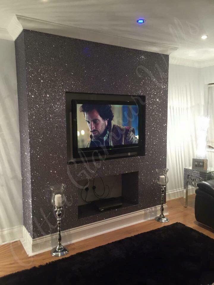 Best Gunmetal Glamour Range Glitter Wallcovering Wystrój 400 x 300