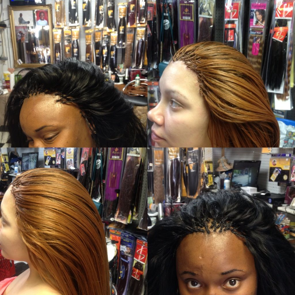 Invisible Micro In 2019 Micro Braids Braided Hairstyles