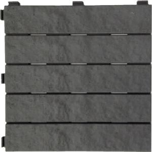 Rubber Slate Deck Tile (6 Pack) MT5100012   The Home Depot