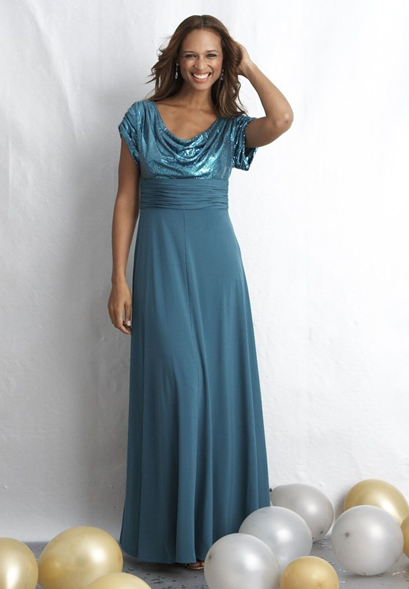 Outlet Gown with Sequins by One Stop Plus | Dresses | Pinterest ...