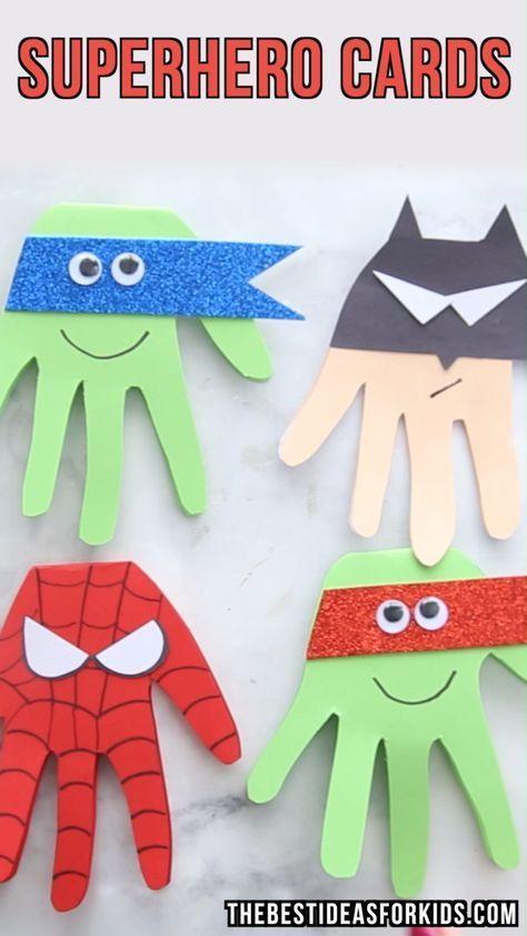 Superhero Craft - Superhero Handprints