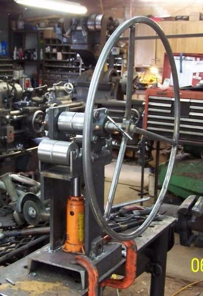 Ring Roller by irish fixit -- Homemade ring roller fabricated from I-beam flat stock threaded rod and steel pipe. Powered by a 1/2 HP 3-phase motor. ... & Ring Roller by irish fixit -- Homemade ring roller fabricated from I ...