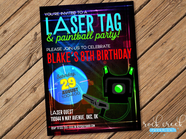 Laser tag invitation laser tag birthday invitation mobile laser laser tag invitation laser tag birthday invitation mobile laser tag party printable birthday party invitation filmwisefo
