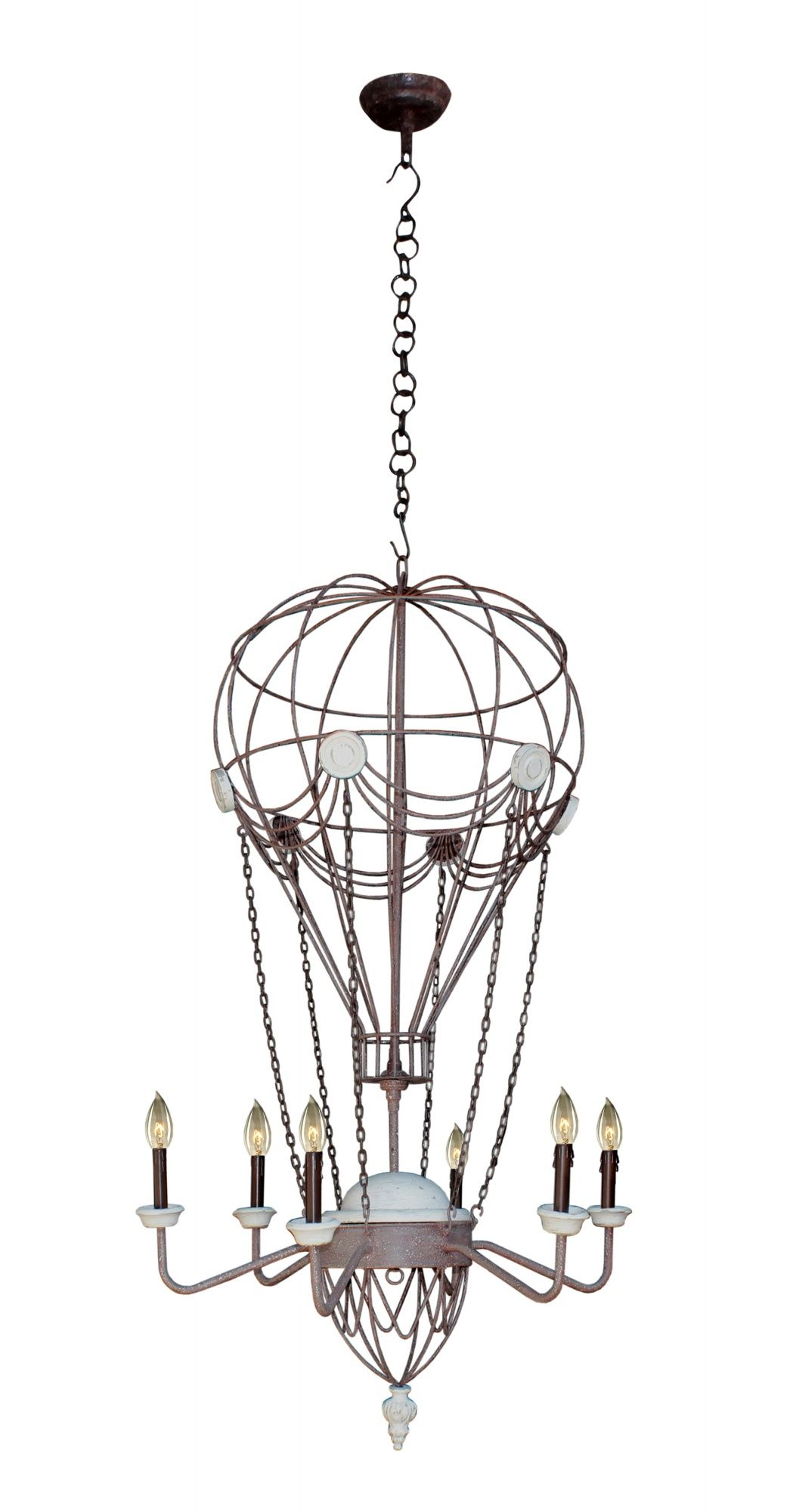 hot air balloon chandelier  looks a little ridiculous but i absolutely love it