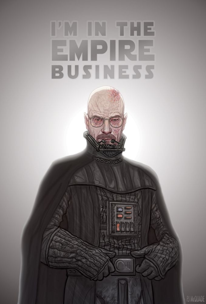 effe1eca Darth Heisenberg - STAR WARS and BREAKING BAD Mashup Art | Geek Art ...