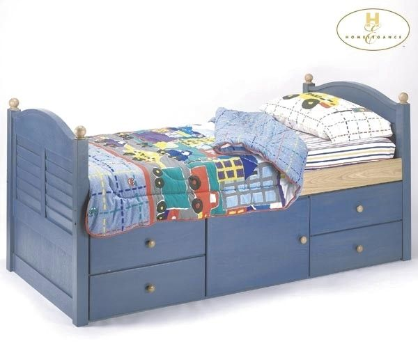Kids Bed With Storage Underneath Con