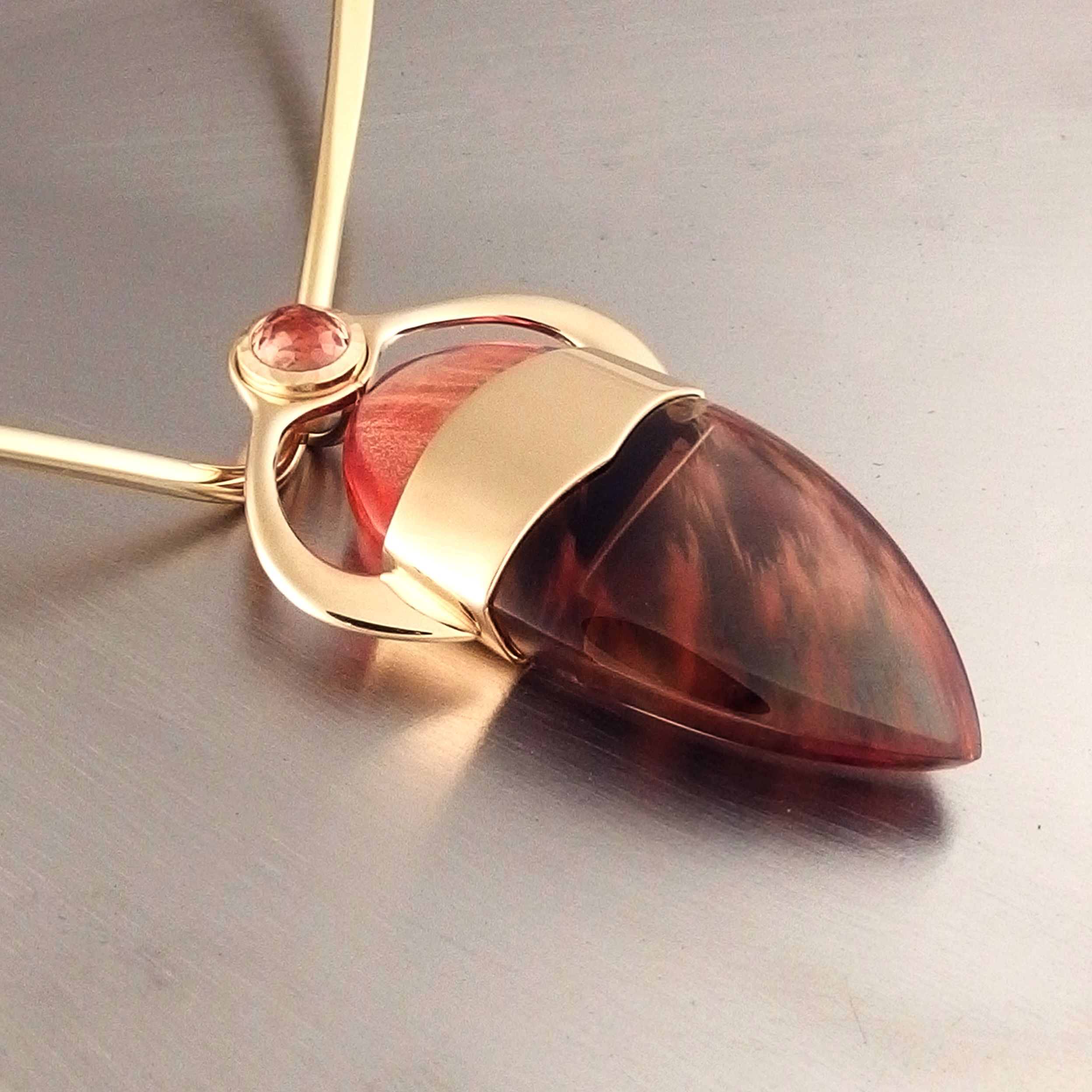 precious teardrop silver feldspar cabochon pendant sunstone sterling goethite heart semi products crystal genuine