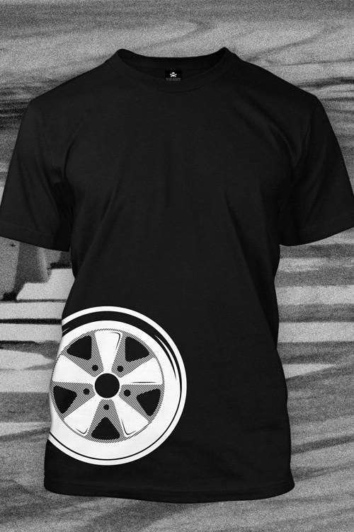 The iconic Fuchs wheel is captured perfectly by Enthusiast Apparel. A simple yet classic design that looks as good on a t-shirt as it does on a Porsche. -<em>Bill@ChoiceGear </em>