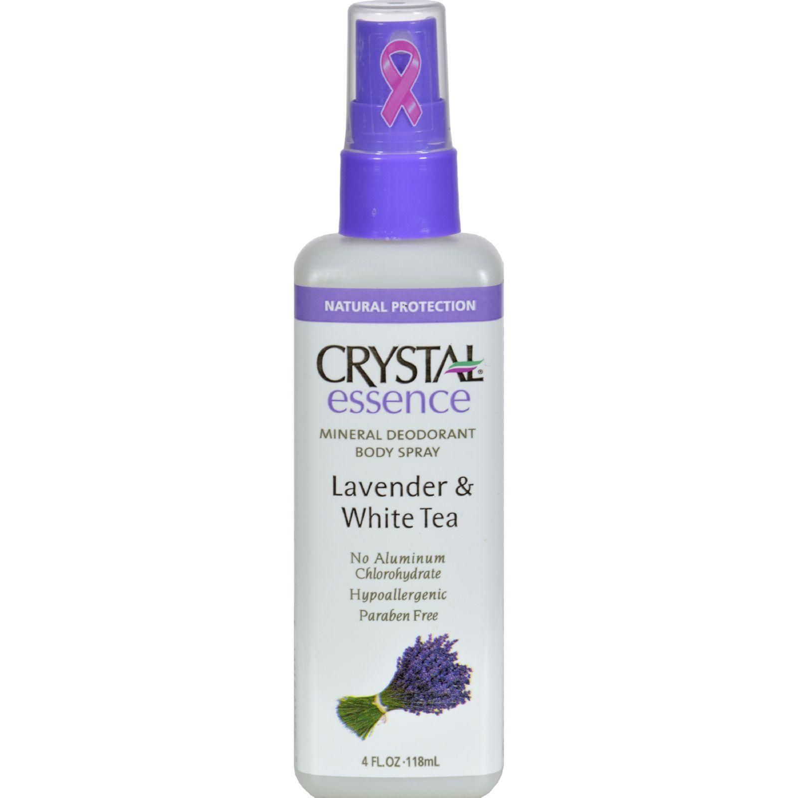 Crystal Essence Mineral Deodorant Body Spray Lavender And