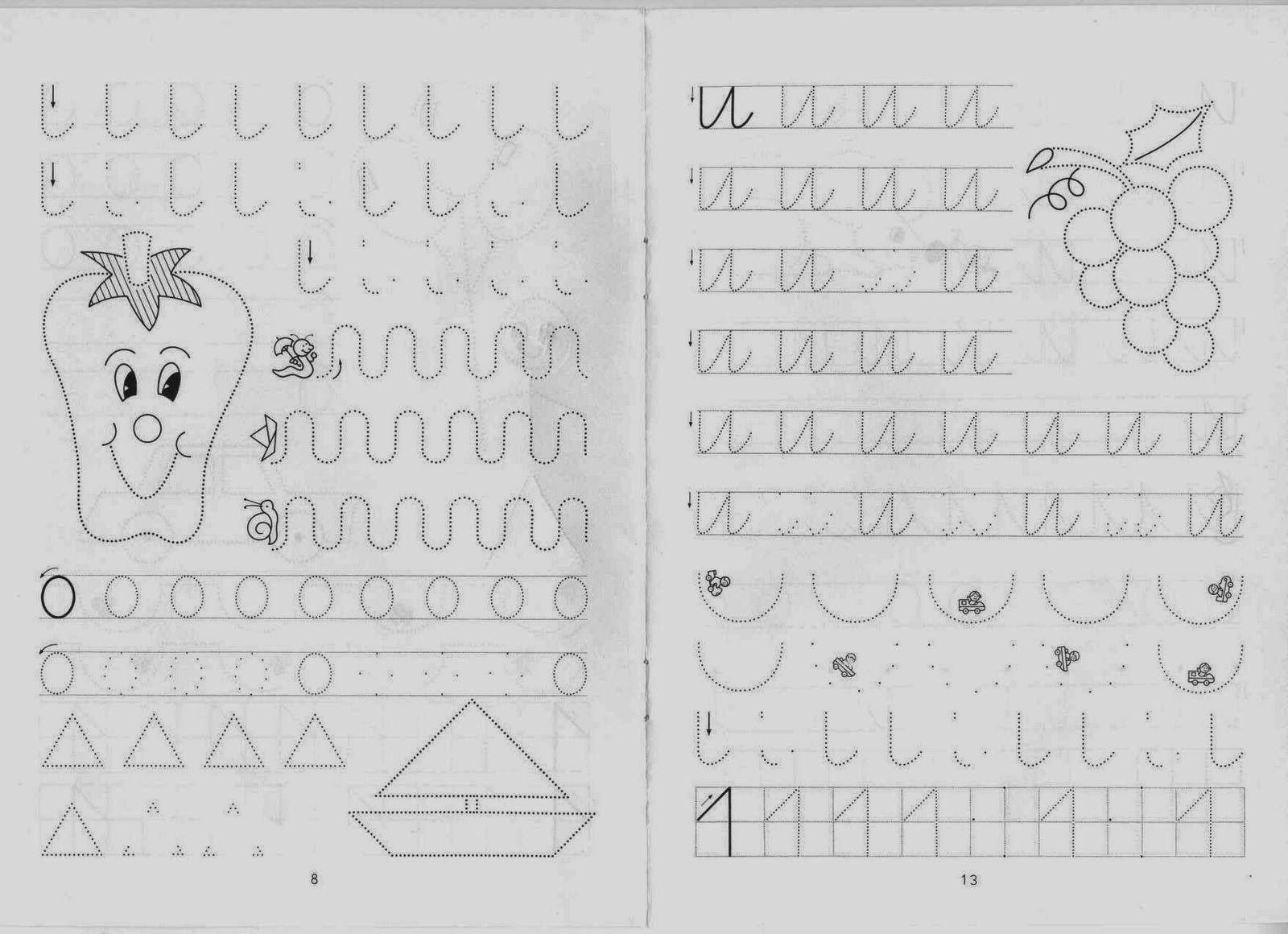 Aprende Brincando: Vários Grafismos de Preparação para a Escrita das ...